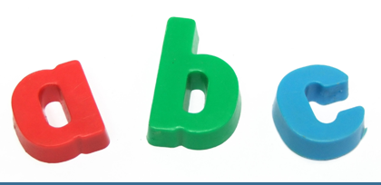 letters a, b, c