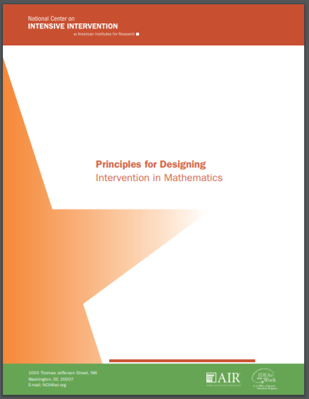 Mathematics Strategies to Support Intensifying Interventions
